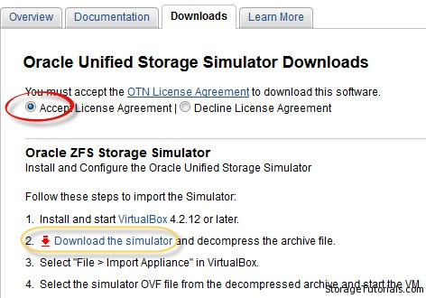 Oracle Unified Storage Simulator