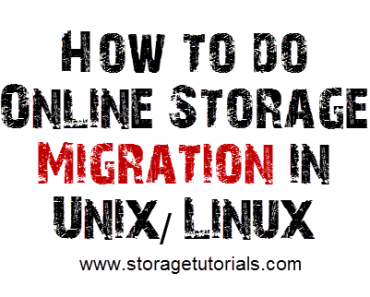 How to do Online Storage Migration Linux