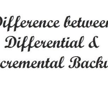 Differential Incremental Backup difference
