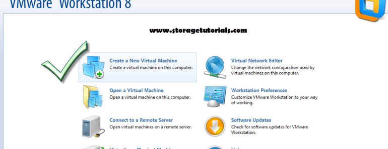 New Virtual Machine in VMware8