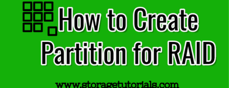 How to Create Partition for RAID in Linux-Unix
