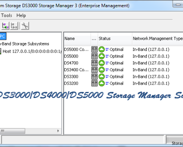 IBM DS Storage Manager Simulator