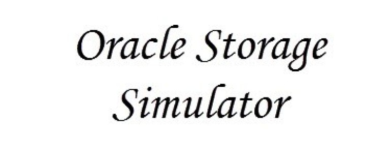 oracle storage simulator