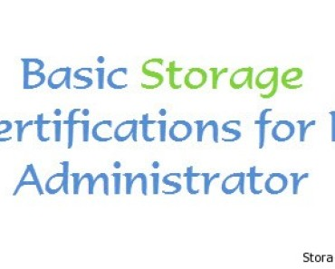 Basic Storage Certifications for Administrator