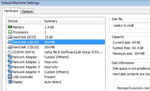 new hard disk to vm host