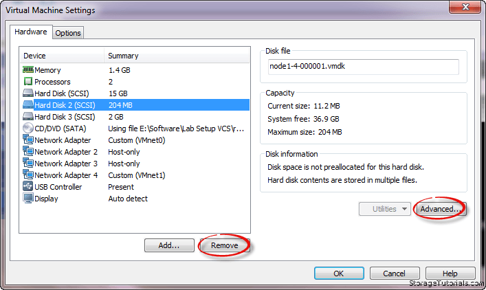 Hard disk remove