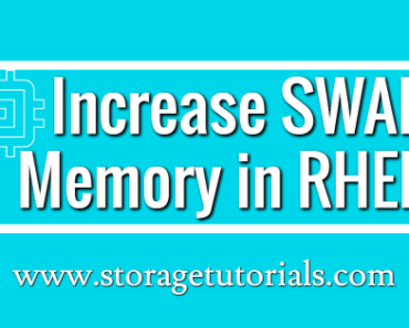 How to Increase SWAP Memory in RHEL 7