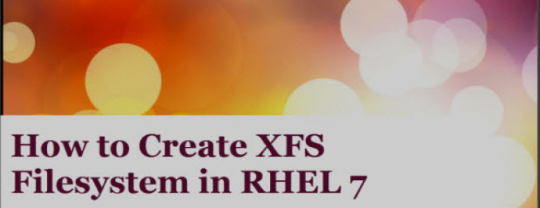XFS Filesystem