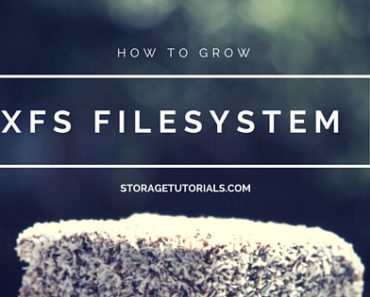 How to Grow XFS Filesystem in RHEL 7