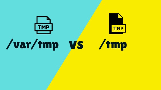 difference between var tmp and tmp in linux
