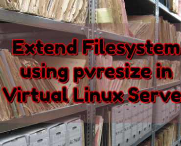 extend-filesystem-using-pvresize-linux