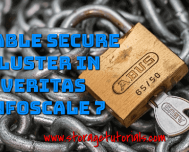 Enable Secure Cluster Feature in Veritas InfoScale Enterprise 7 (VCS)