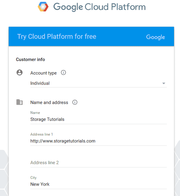 Google Cloud Platform - Customer Info