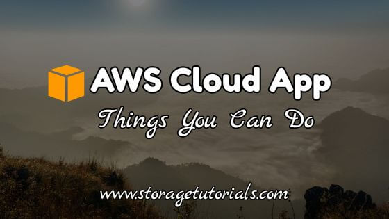AWS Cloud Mobile App - Things you can do